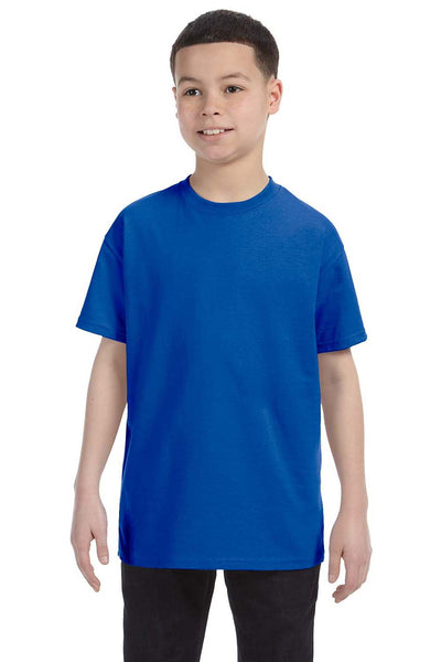 Gildan G500B Youth Short Sleeve Crewneck T-Shirt Royal Blue Front