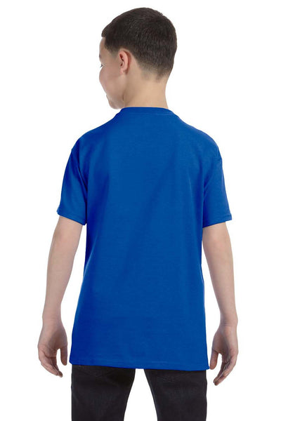 Gildan G500B Youth Short Sleeve Crewneck T-Shirt Royal Blue Back