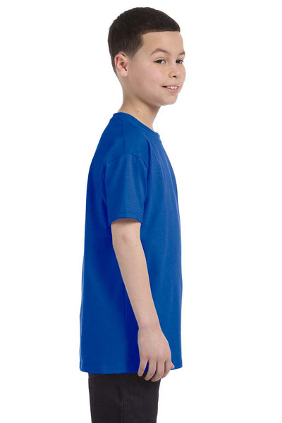 Gildan G500B Youth Short Sleeve Crewneck T-Shirt Royal Blue Side