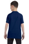 Gildan G500B Youth Short Sleeve Crewneck T-Shirt Navy Blue Back