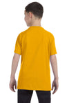 Gildan G500B Youth Short Sleeve Crewneck T-Shirt Gold Back