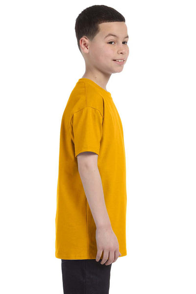 Gildan G500B Youth Short Sleeve Crewneck T-Shirt Gold Side