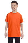 Gildan G500B Youth Short Sleeve Crewneck T-Shirt Orange Front