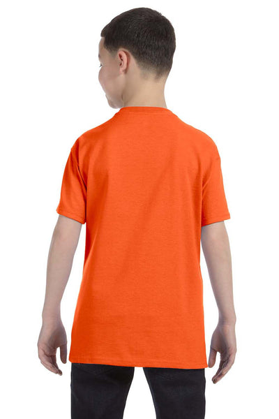 Gildan G500B Youth Short Sleeve Crewneck T-Shirt Orange Back