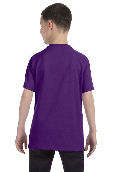 Gildan G500B Youth Short Sleeve Crewneck T-Shirt Purple Back