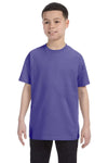 Gildan G500B Youth Short Sleeve Crewneck T-Shirt Violet Purple Front