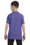 Gildan G500B Youth Short Sleeve Crewneck T-Shirt Violet Purple Back