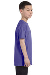 Gildan G500B Youth Short Sleeve Crewneck T-Shirt Violet Purple Side
