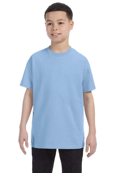 Gildan G500B Youth Short Sleeve Crewneck T-Shirt Light Blue Front