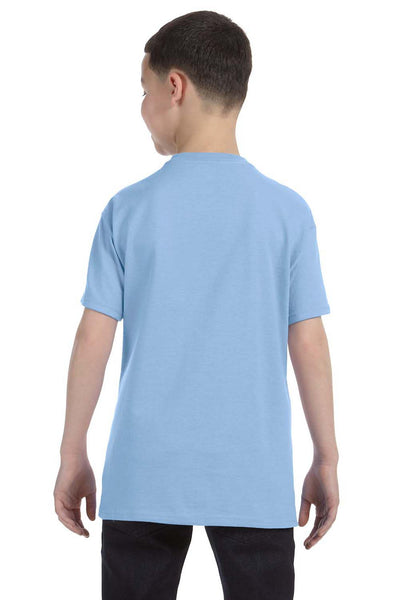 Gildan G500B Youth Short Sleeve Crewneck T-Shirt Light Blue Back