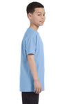 Gildan G500B Youth Short Sleeve Crewneck T-Shirt Light Blue Side