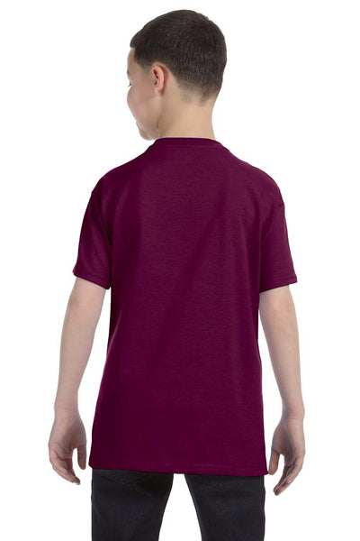 Gildan G500B Youth Short Sleeve Crewneck T-Shirt Maroon Back