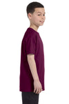 Gildan G500B Youth Short Sleeve Crewneck T-Shirt Maroon Side