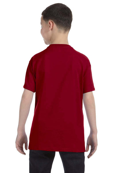 Gildan G500B Youth Short Sleeve Crewneck T-Shirt Cardinal Red Back