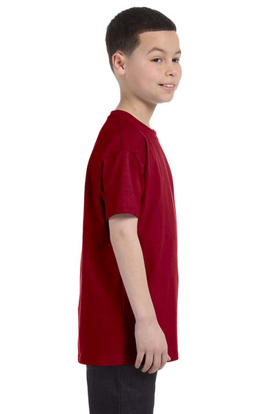 Gildan G500B Youth Short Sleeve Crewneck T-Shirt Cardinal Red Side