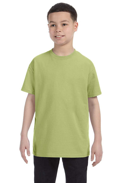 Gildan G500B Youth Short Sleeve Crewneck T-Shirt Kiwi Green Front