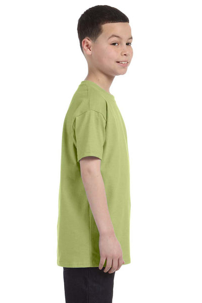 Gildan G500B Youth Short Sleeve Crewneck T-Shirt Kiwi Green Side