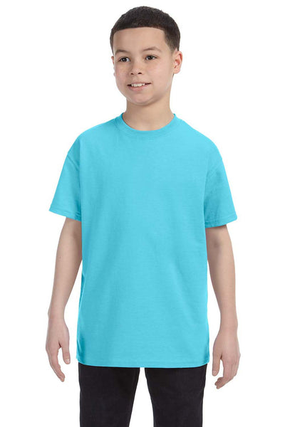 Gildan G500B Youth Short Sleeve Crewneck T-Shirt Sky Blue Front