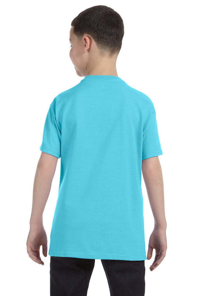 Gildan G500B Youth Short Sleeve Crewneck T-Shirt Sky Blue Back