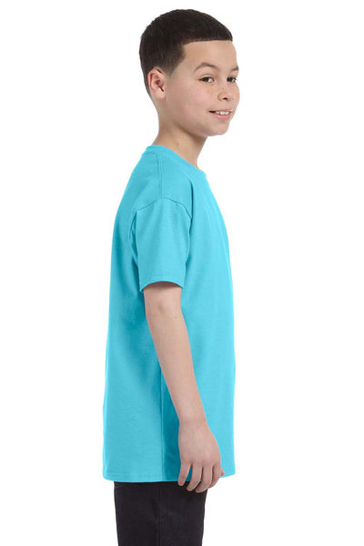 Gildan G500B Youth Short Sleeve Crewneck T-Shirt Sky Blue Side