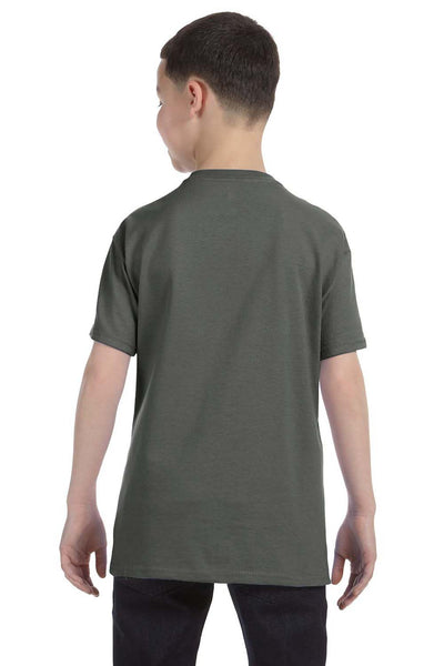 Gildan G500B Youth Short Sleeve Crewneck T-Shirt Military Green Back