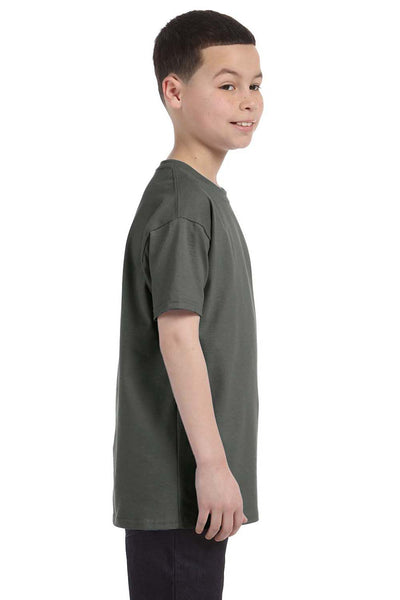 Gildan G500B Youth Short Sleeve Crewneck T-Shirt Military Green Side