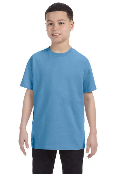 Gildan G500B Youth Short Sleeve Crewneck T-Shirt Carolina Blue Front