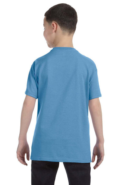Gildan G500B Youth Short Sleeve Crewneck T-Shirt Carolina Blue Back