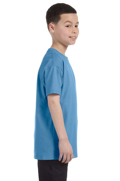 Gildan G500B Youth Short Sleeve Crewneck T-Shirt Carolina Blue Side