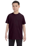 Gildan G500B Youth Short Sleeve Crewneck T-Shirt Chocolate Brown Front