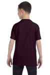 Gildan G500B Youth Short Sleeve Crewneck T-Shirt Chocolate Brown Back