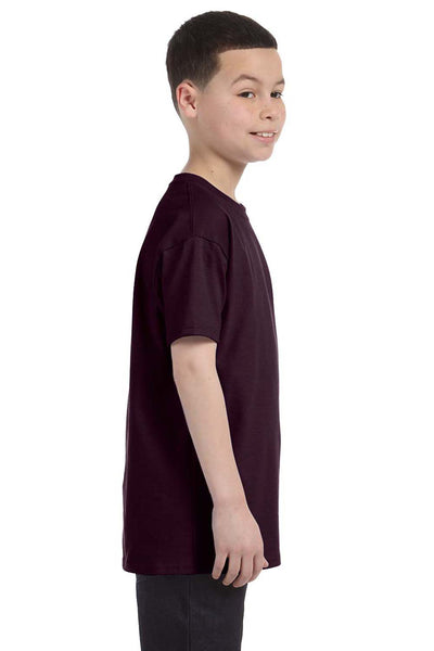 Gildan G500B Youth Short Sleeve Crewneck T-Shirt Chocolate Brown Side