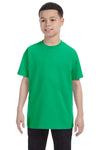 Gildan G500B Youth Short Sleeve Crewneck T-Shirt Irish Green Front