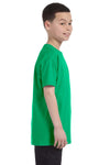 Gildan G500B Youth Short Sleeve Crewneck T-Shirt Irish Green Side