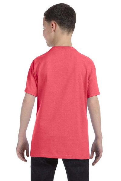 Gildan G500B Youth Short Sleeve Crewneck T-Shirt Coral Silk Pink Back