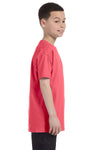 Gildan G500B Youth Short Sleeve Crewneck T-Shirt Coral Silk Pink Side