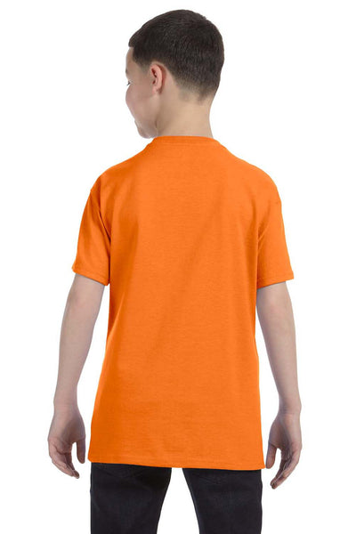 Gildan G500B Youth Short Sleeve Crewneck T-Shirt Safety Orange Back