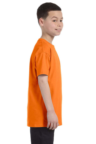 Gildan G500B Youth Short Sleeve Crewneck T-Shirt Safety Orange Side