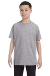 Gildan G500B Youth Short Sleeve Crewneck T-Shirt Sport Grey Front
