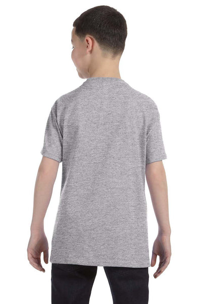 Gildan G500B Youth Short Sleeve Crewneck T-Shirt Sport Grey Back