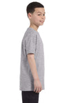 Gildan G500B Youth Short Sleeve Crewneck T-Shirt Sport Grey Side