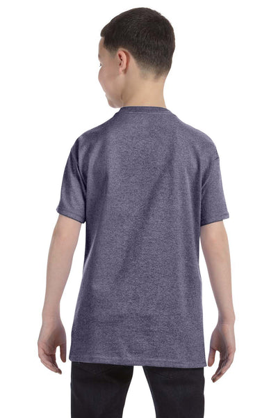 Gildan G500B Youth Short Sleeve Crewneck T-Shirt Heather Graphite Grey Back