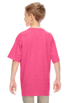 Gildan G500B Youth Short Sleeve Crewneck T-Shirt Safety Pink Back