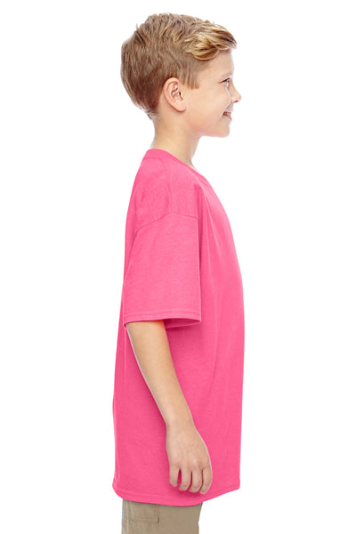 Gildan G500B Youth Short Sleeve Crewneck T-Shirt Safety Pink Side