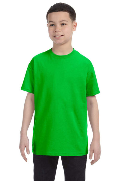 Gildan G500B Youth Short Sleeve Crewneck T-Shirt Electric Green Front