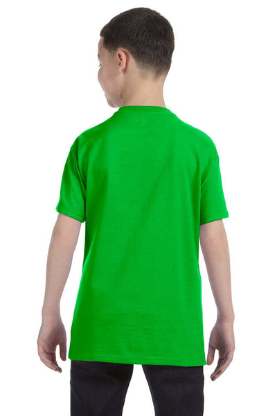 Gildan G500B Youth Short Sleeve Crewneck T-Shirt Electric Green Back