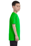 Gildan G500B Youth Short Sleeve Crewneck T-Shirt Electric Green Side