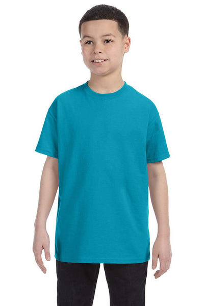 Gildan G500B Youth Short Sleeve Crewneck T-Shirt Tropical Blue Front