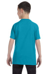Gildan G500B Youth Short Sleeve Crewneck T-Shirt Tropical Blue Back