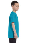 Gildan G500B Youth Short Sleeve Crewneck T-Shirt Tropical Blue Side